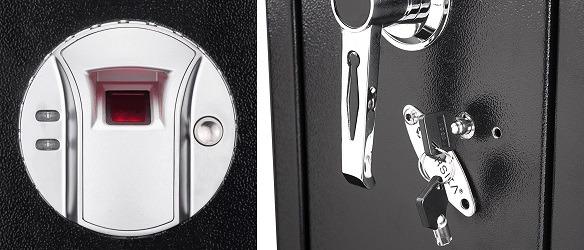 Barska Quick Access Biometric Rifle Safe AX11652 lock system