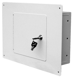 Homak between the studs wall safe