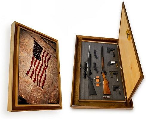 Stealth Furniture American Flag Gun Cabinet Picture