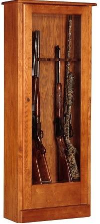 American Furniture Classics 10 Gun Wooden Cabinet
