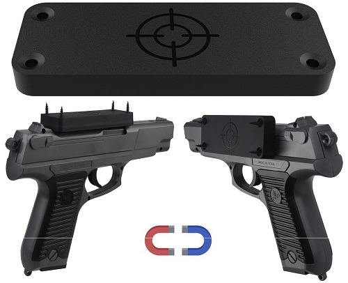 Gun Magnet With Rubber Coating